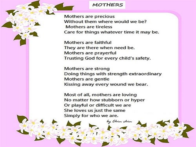 Mother's Day Poems Greetings 3