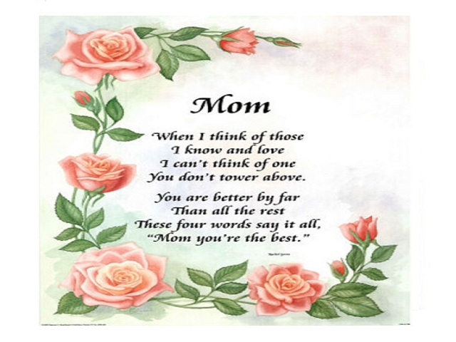 Mother's Day Poems Pictures