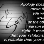 Apology And Sorry Poetry