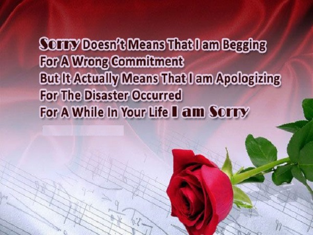 Apology And Sorry Quotes