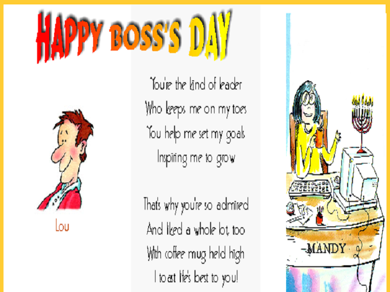 boss day poetry lovely messages
