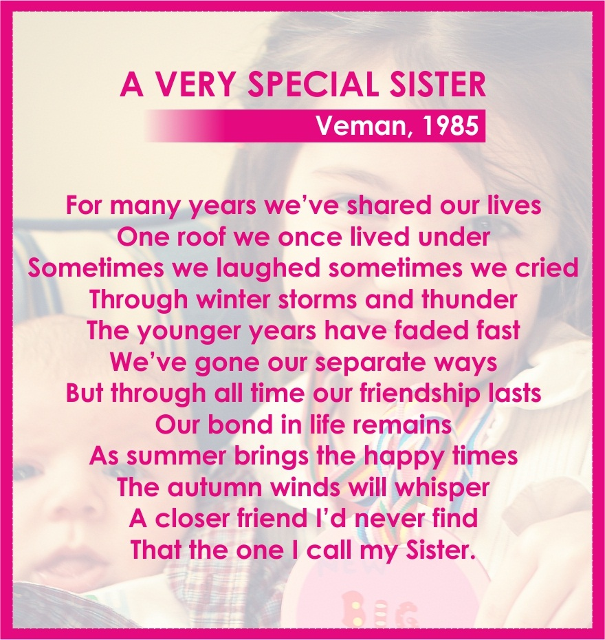 Poem for Special Sister