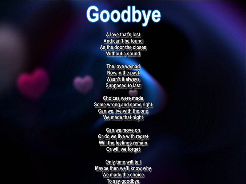 Best Bye Bye Poems - Famous Poems - Cool Bye Bye Poems ...